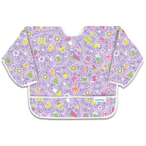 Śliniak z rękawami - Flower Garden