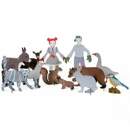 Figurki Totem Leśne Zwierzaki